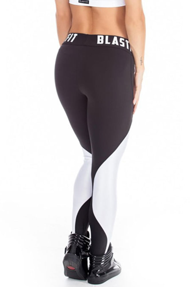 Legging Fitness White And Black 86 costas