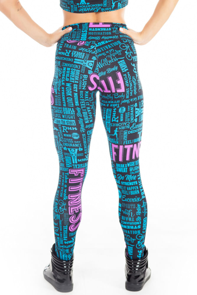 Legging Fitness Words costas