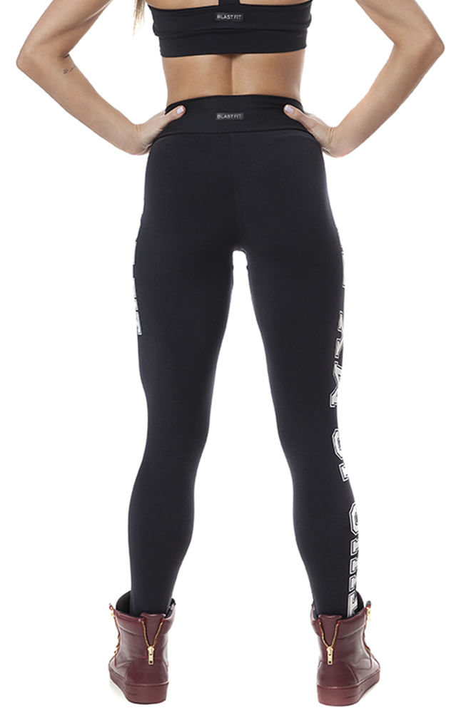 Legging Fitness This Is My Time Preto costas