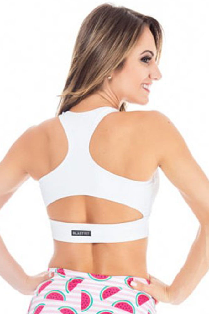 Top Fitness Cropped White