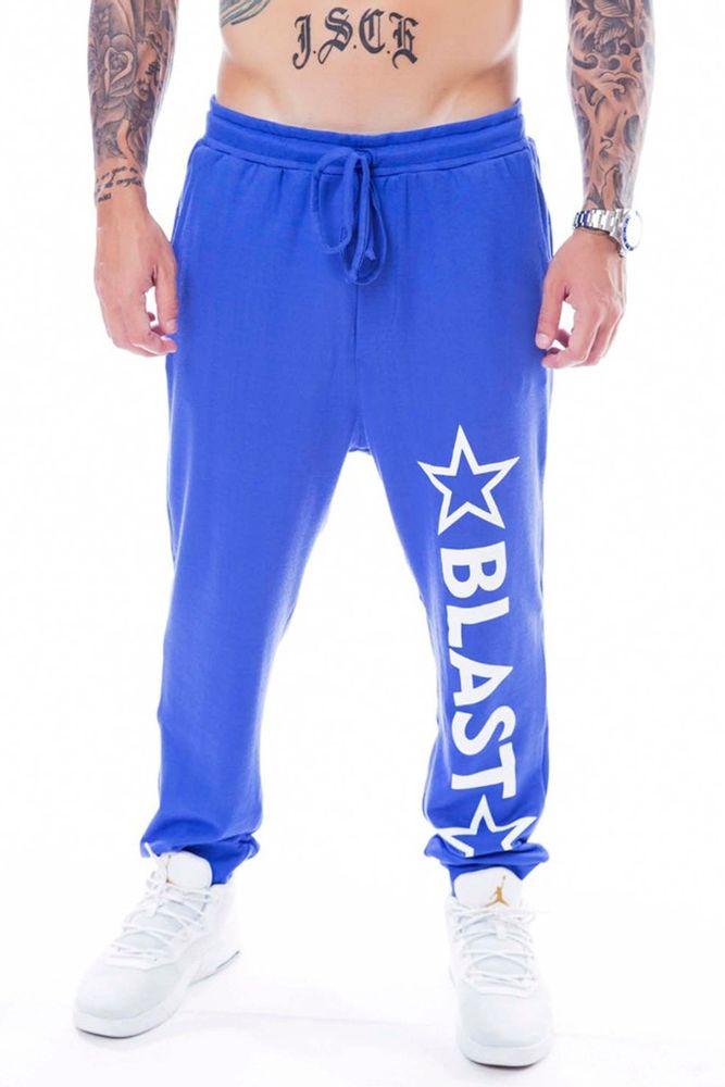 Calça De Moletom Blast Fit Star Azul frente