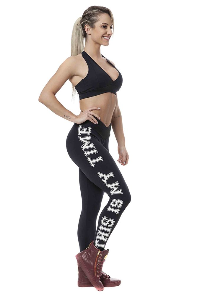 Legging Fitness This Is My Time Preto