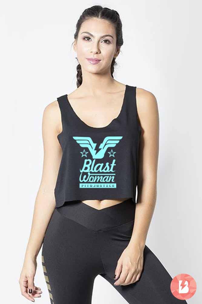 Blusa Fitness Preta Blast Woman