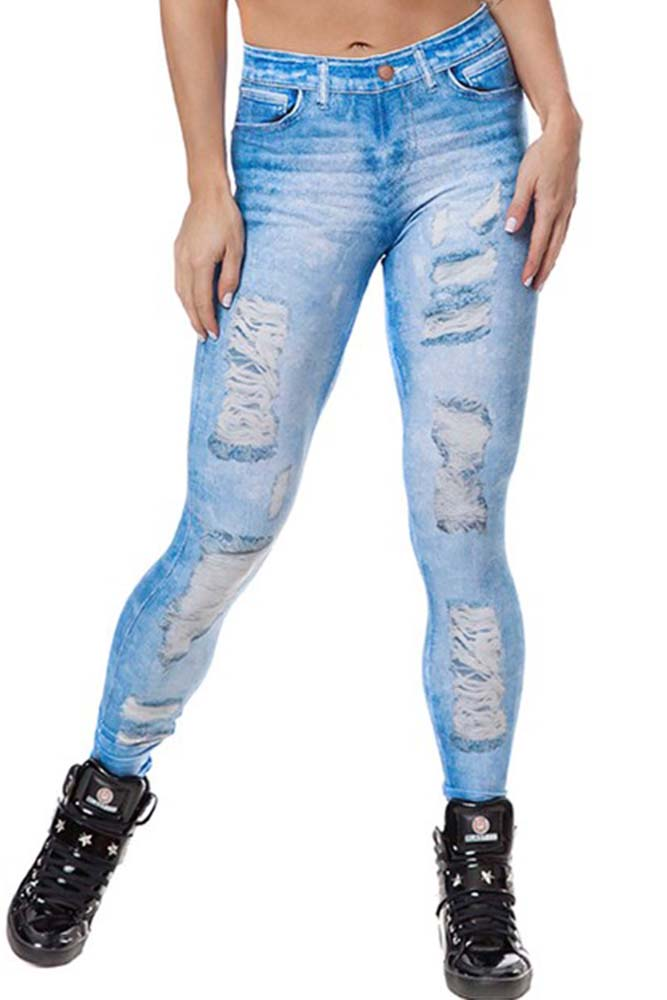 Legging Fitness Jeans Fake Clara