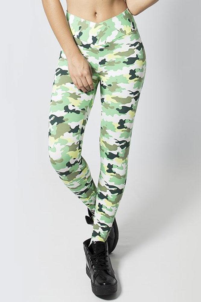 Legging Fitness Camuflado Verde
