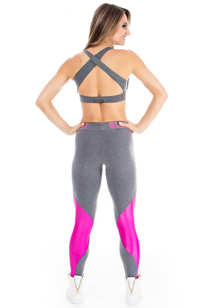 Legging Fitness Blend And Pink 86