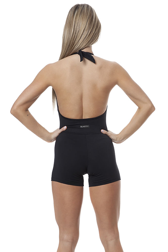 Macaquinho Fitness Basic Black costas