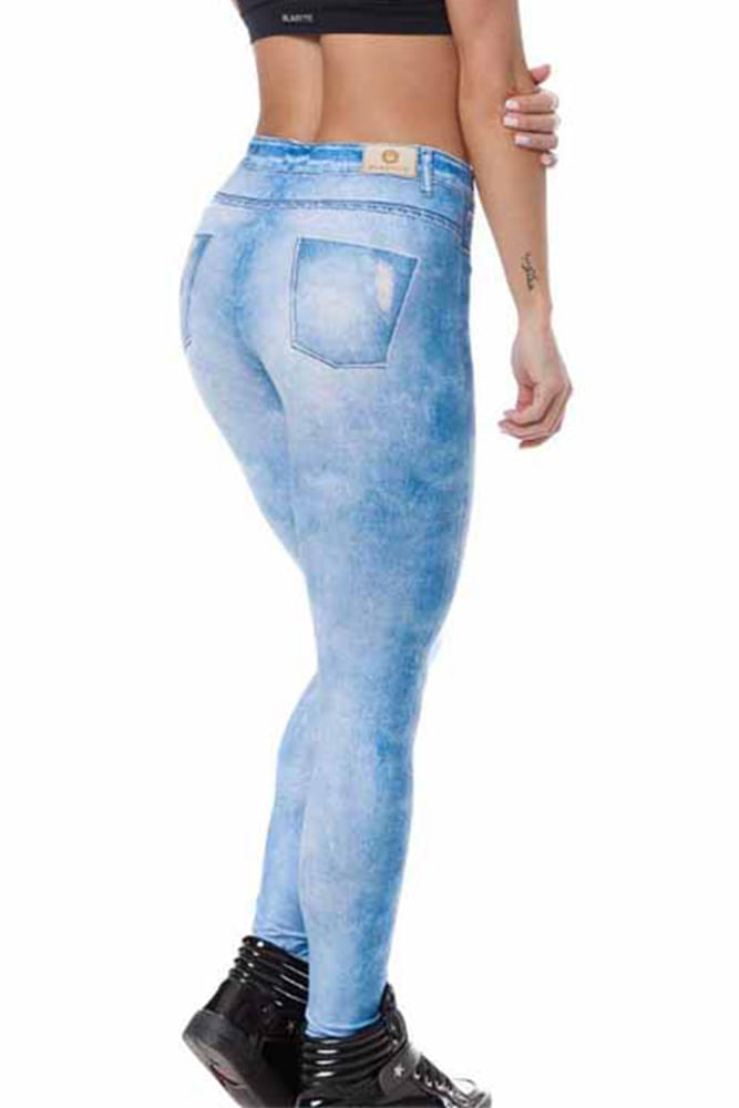Legging Fitness Jeans Fake Clara costas
