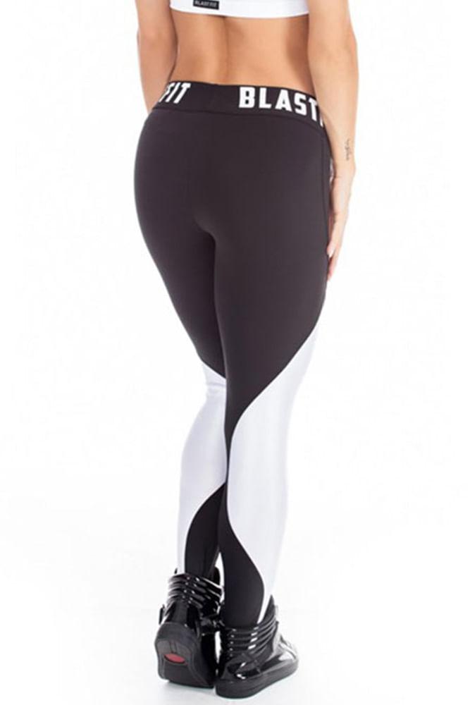 Legging Fitness White And Black 86 costas