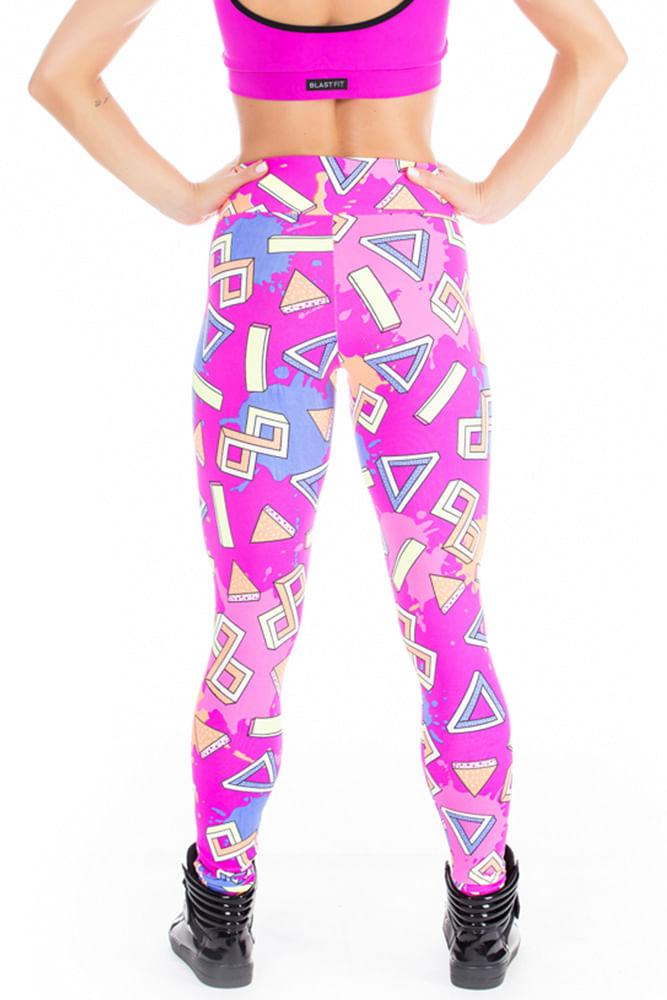 Legging Fitness Geometric Pink costas