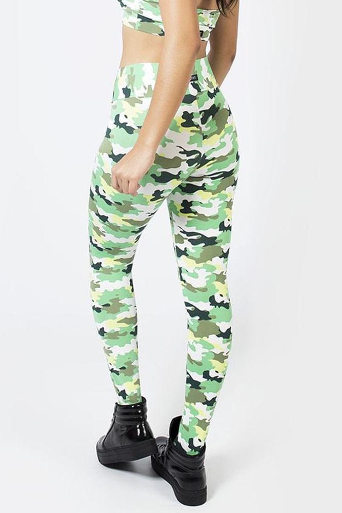 Legging Fitness Camuflado Verde costas