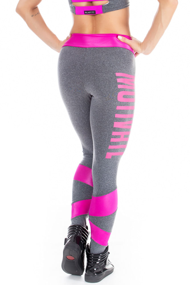 Legging Fitness Motivate Mescla costas