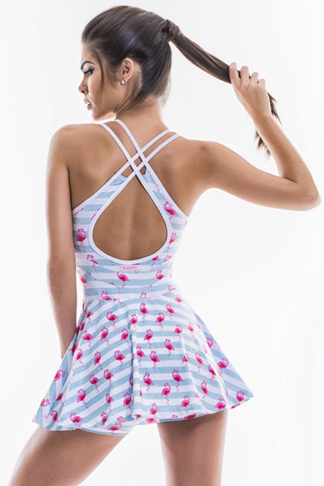 Vestido De Malhar Flamingos