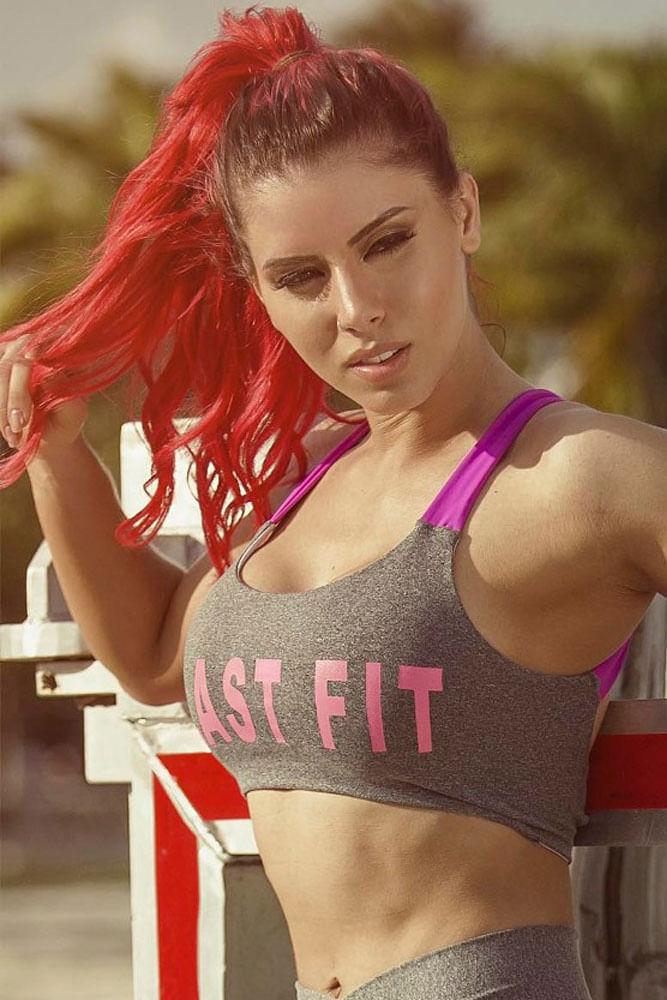 Top Fitness Mescla e Rosa