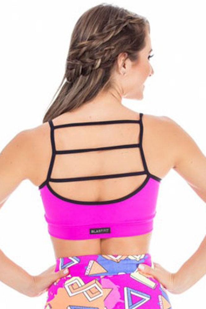 Top Fitness Pink Com Tiras