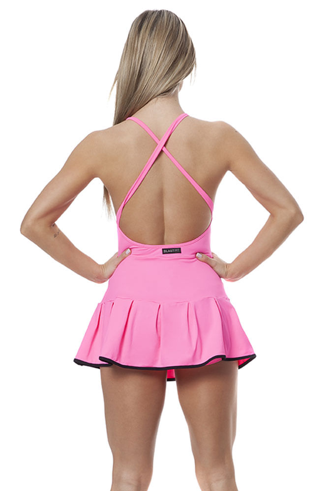 Vestido de Malhar Wow Rosa costas