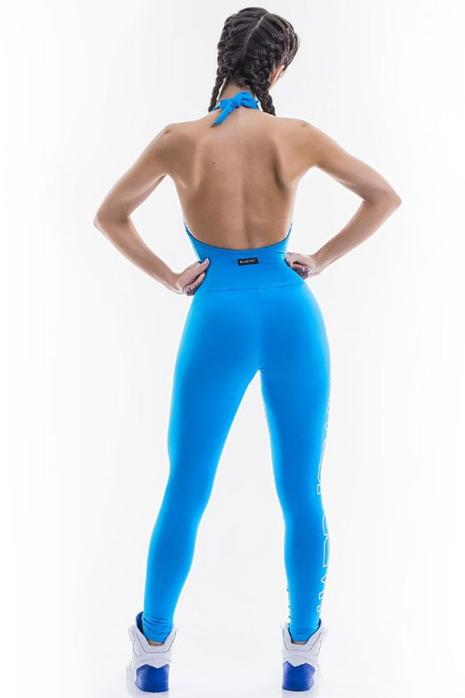 Macacão Fitness Hard Training Azul