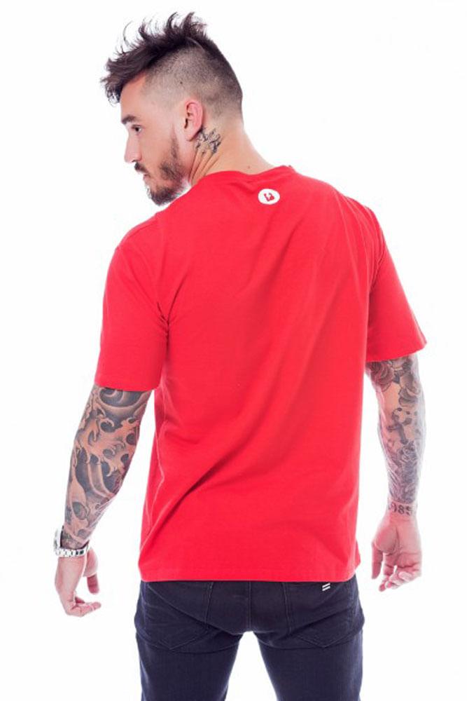 Camiseta Blast Stripes Vermelha