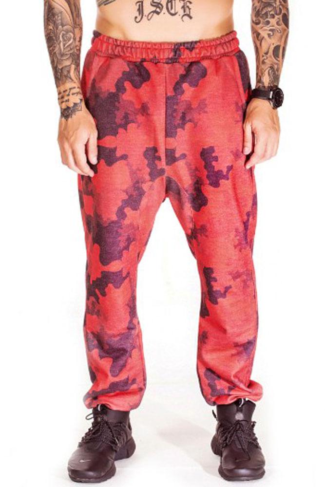 Calça De Moletom Saruel Militar Vermelha
