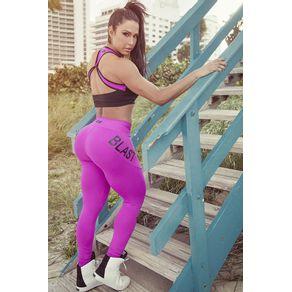 Calça Legging Fitness Pink Blast Fit costas