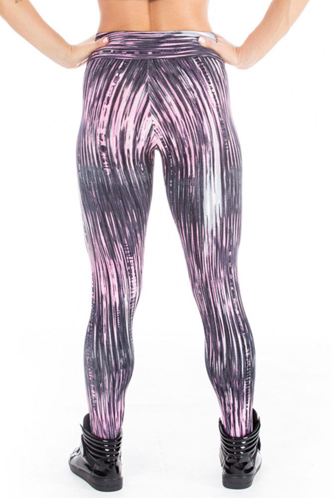 Calca Legging Fitness Fibers costas