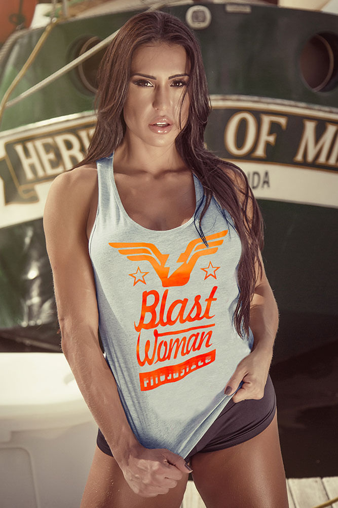 Regata Fitness Cinza Blast Woman frente