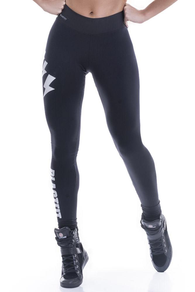 Legging Fitness Preta Raios Blast Fit