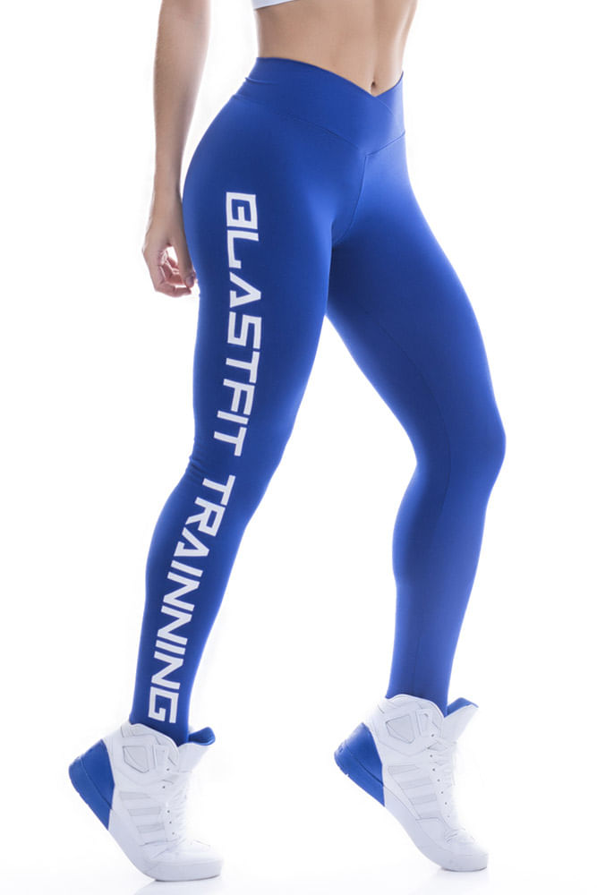 Legging Fitness Azul Blast Fit Trainning