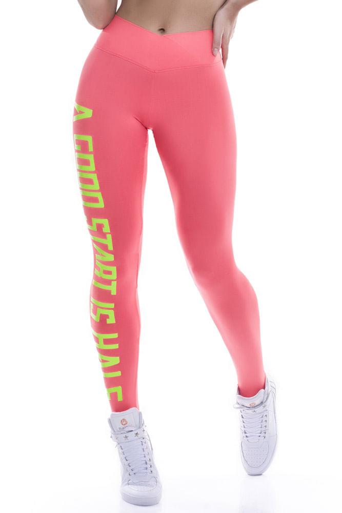 Legging Fitness Laranja A Good Start Blast Fit