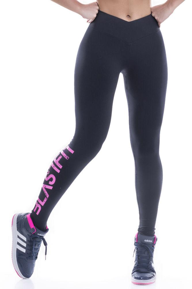 Legging Fitness Preta Blast Fit
