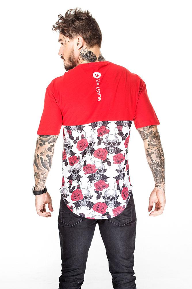 Camiseta Blast Fit Caveira Vermelha costas