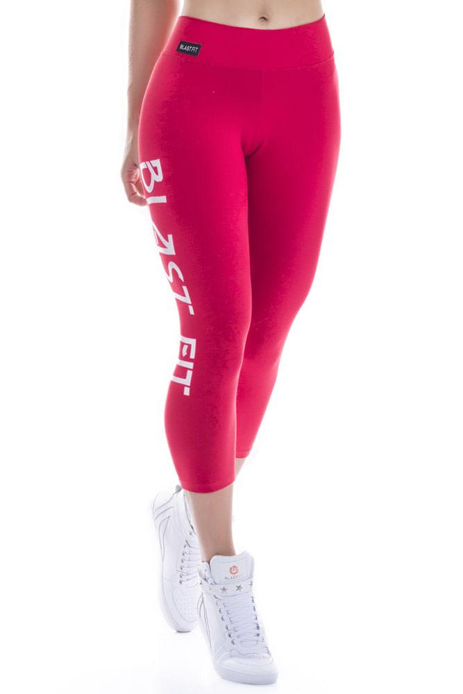 Calça Corsário Fitness Vermelha Blast Fit