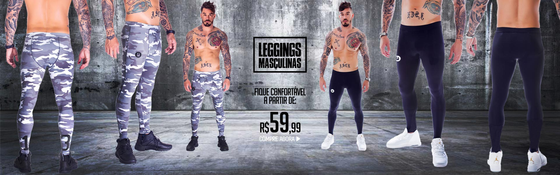 Legging masculina