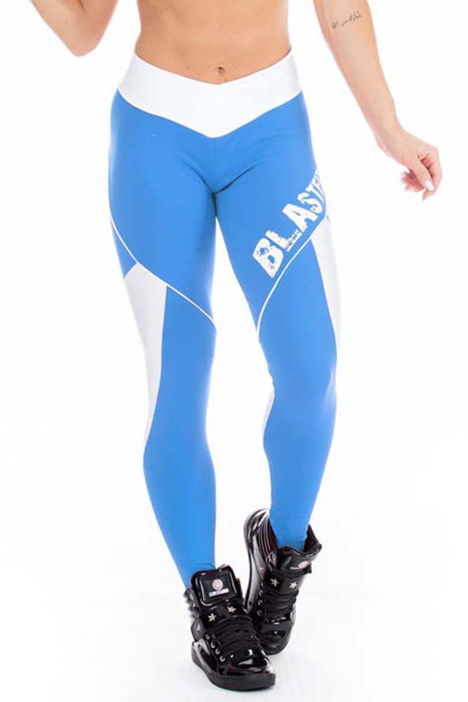 Calça Legging Fitness Azul frente