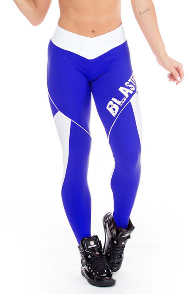 Calça Legging Fitness Azul Escura frente