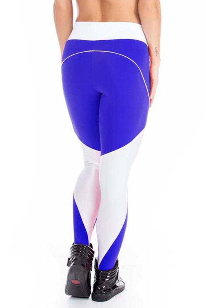 Calça Legging Fitness Azul Escura costas