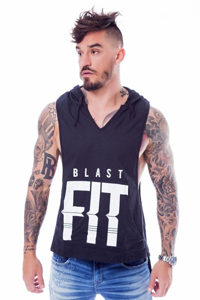 bae08400e Compre Regata Fitness Com Capuz Blast Fit Tanque Online - BlastFit