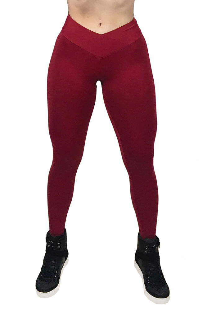 Legging-Fitness-Bordo-Basica
