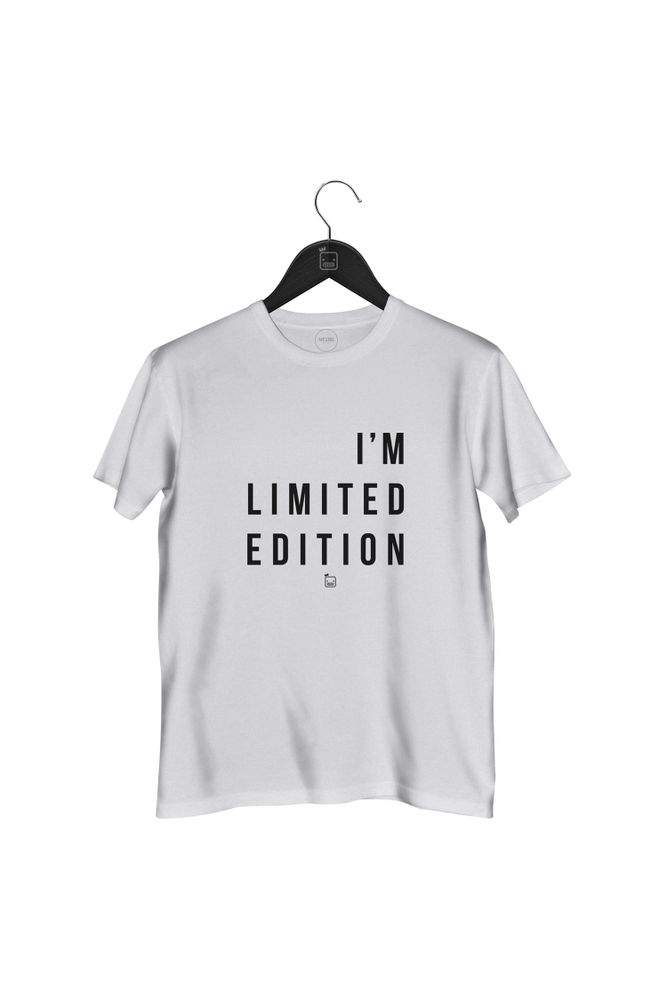 Camiseta-I_m-Limited-Edition---masculina-branca