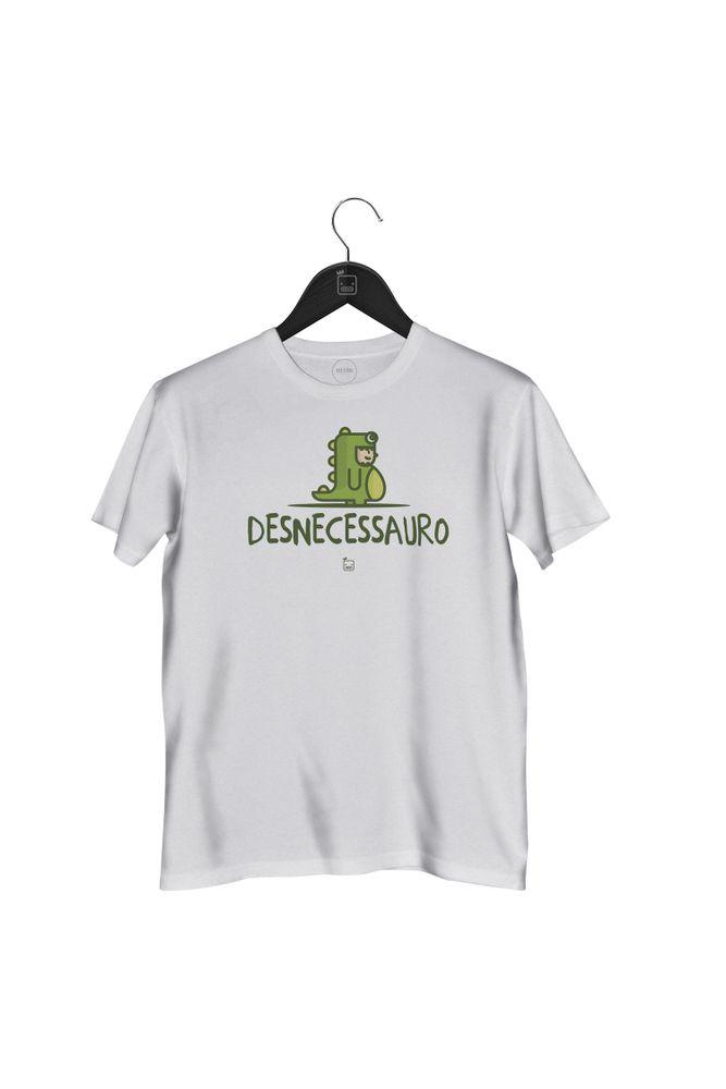 Camiseta-Desnecessauro---masculina-branca