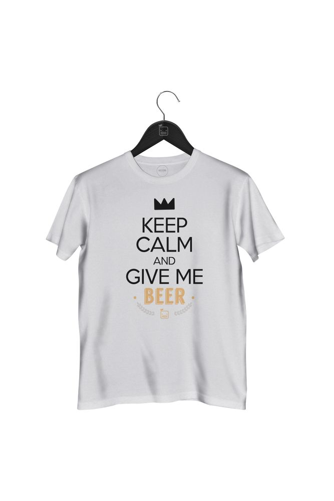 Camiseta-Keep-Calm-And-Give-Me-Beer---masculina-branca