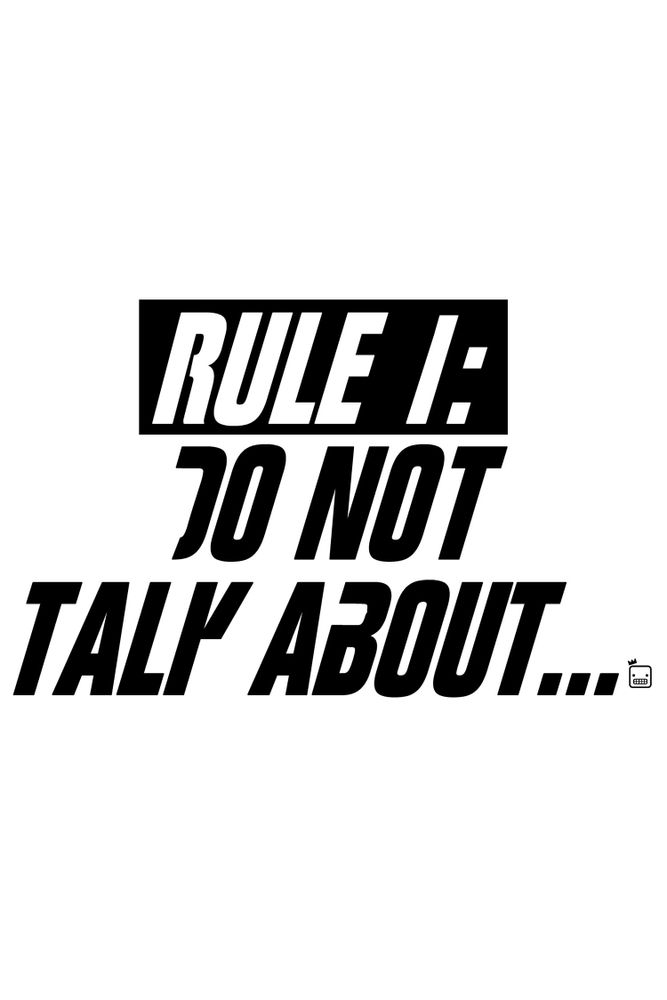 Camiseta-Rule-1-Do-Not-Talk-About-masculina-estampa