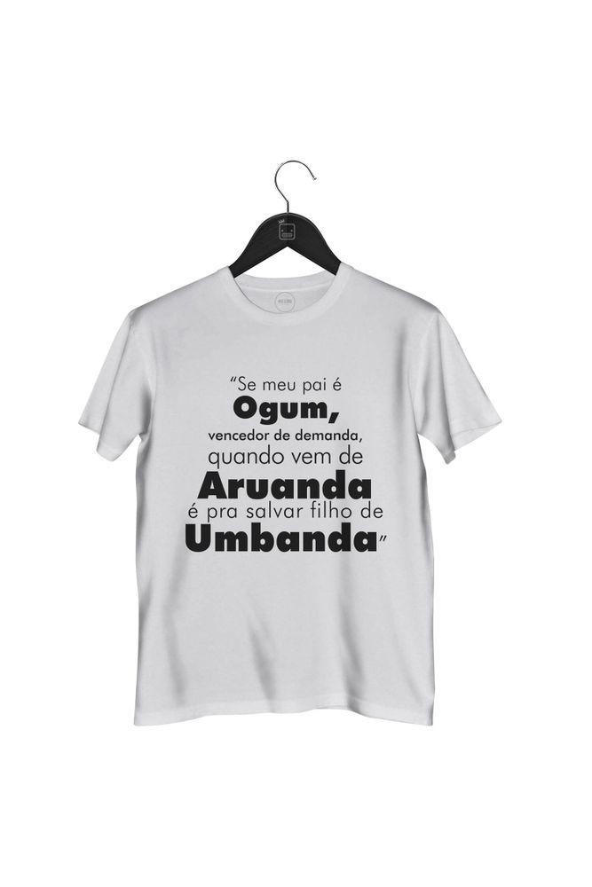 Camiseta-Se-Meu-Pai-E-Ogum-masculina-branca