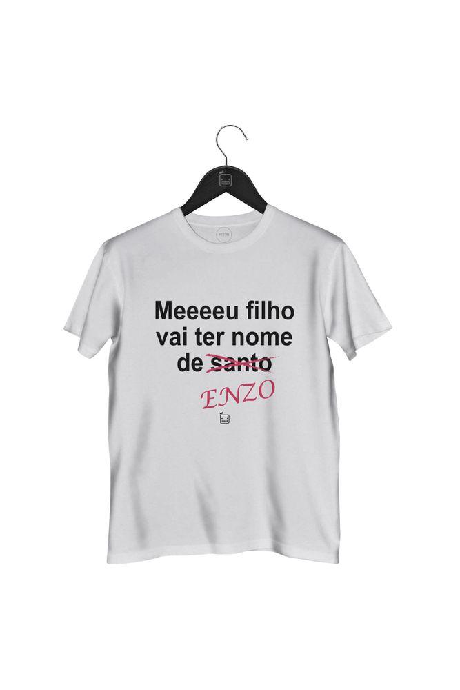 Camiseta-Meeeeu-Filho-Vai-Ter-Nome-De-Enzo-masculina-branca