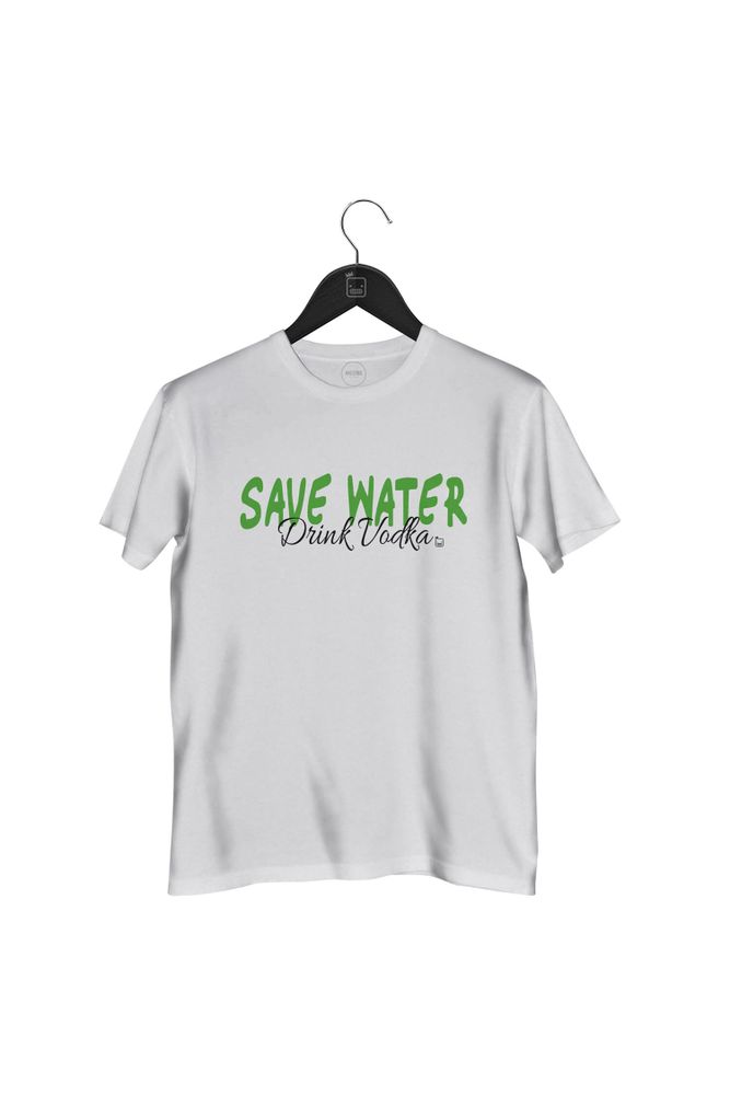 Camiseta-Save-Water-Drink-Vodka-masculina-branca