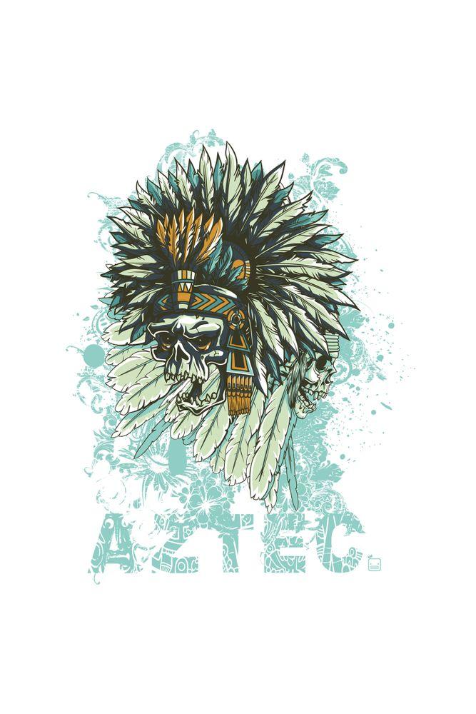 Camiseta-Aztec-masculina-estampa