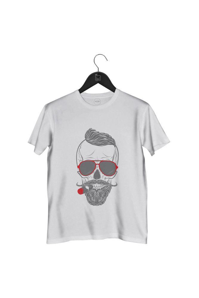 Camiseta-Caveira-Smoking-masculina-branca