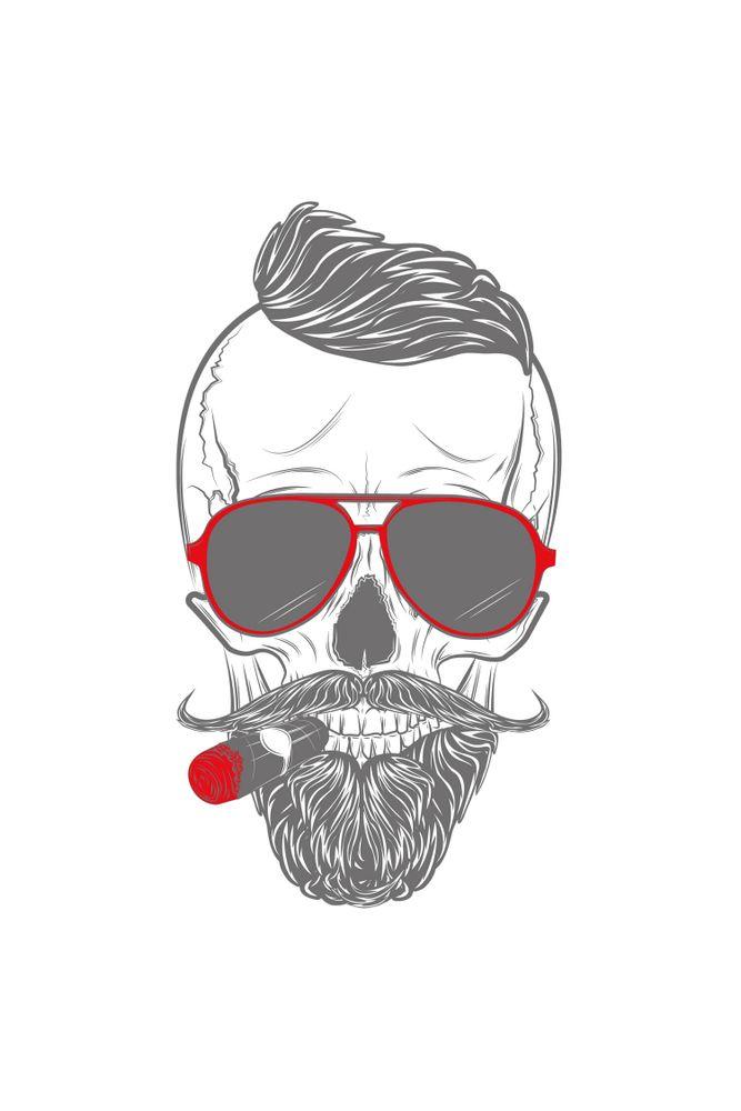 Camiseta-Caveira-Smoking-masculina-estampa