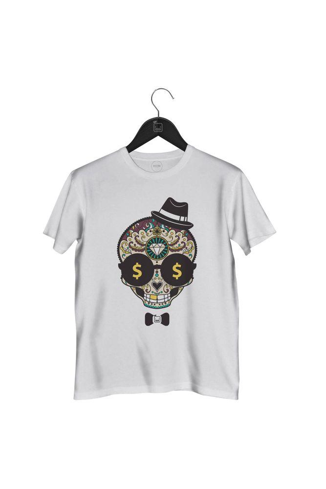 Camiseta-Caveira-Diamond-masculina-branca