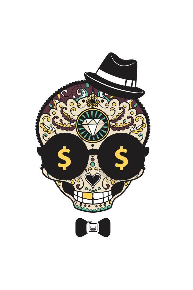Camiseta-Caveira-Diamond-masculina-estampa